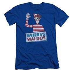 Wheres Waldo - Mens Waldo Wave Slim Fit T-Shirt