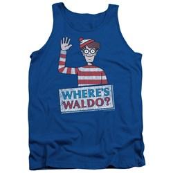 Wheres Waldo - Mens Waldo Wave Tank Top