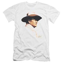 John Wayne - Mens Painted Profile Premium Slim Fit T-Shirt