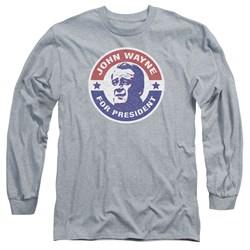 John Wayne - Mens John Wayne For President Long Sleeve T-Shirt