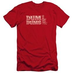 Dum Dums - Mens Worlds Best Premium Slim Fit T-Shirt