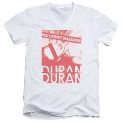 Duran Duran - Mens Red Carpet Massacre V-Neck T-Shirt