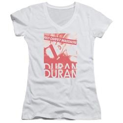 Duran Duran - Juniors Red Carpet Massacre V-Neck T-Shirt