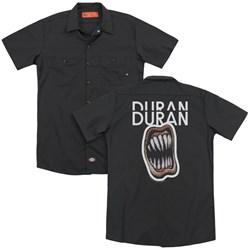 Duran Duran - Mens Pressure Off (Back Print) Work Shirt