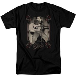 Elvis Presley - Mens Elvis Pinstripes T-Shirt