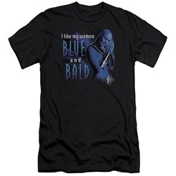 Farscape - Mens Blue And Bald Premium Slim Fit T-Shirt