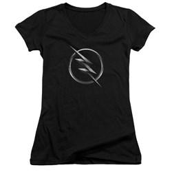 Flash - Juniors Zoom Logo V-Neck T-Shirt