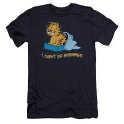 Garfield - Mens I Dont Do Mornings Premium Slim Fit T-Shirt