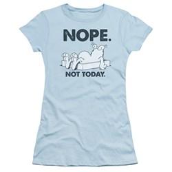 Garfield - Juniors Nope T-Shirt