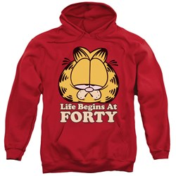Garfield - Mens Life Begins At Forty Pullover Hoodie