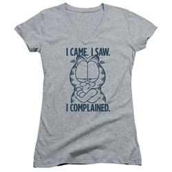 Garfield - Juniors I Complained V-Neck T-Shirt