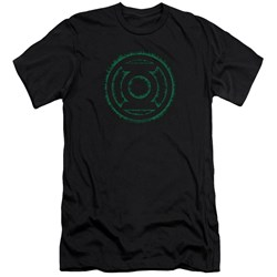 Green Lantern - Mens Green Flame Logo Premium Slim Fit T-Shirt