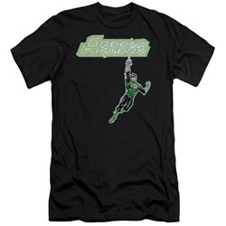 Green Lantern - Mens Energy Construct Logo Premium Slim Fit T-Shirt