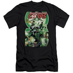 Green Lantern - Mens Gl Corps #25 Cover Premium Slim Fit T-Shirt