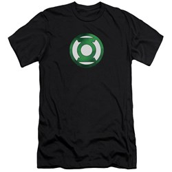 Green Lantern - Mens Green Chrome Logo Premium Slim Fit T-Shirt