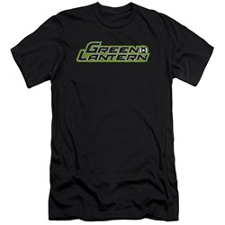 Green Lantern - Mens Scribble Title Premium Slim Fit T-Shirt