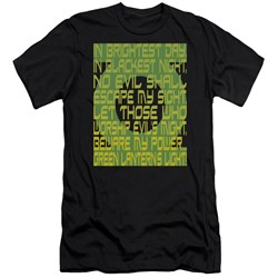Green Lantern - Mens Green Lantern Oath Premium Slim Fit T-Shirt