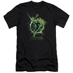 Green Lantern - Mens Shadow Lantern Premium Slim Fit T-Shirt