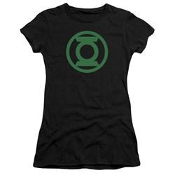 Green Lantern - Juniors Green Emblem Premium Bella T-Shirt