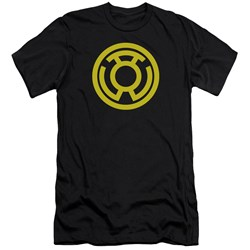 Green Lantern - Mens Yellow Emblem Premium Slim Fit T-Shirt
