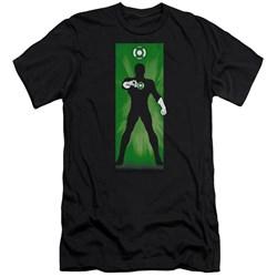 Dc - Mens Green Lantern Block Premium Slim Fit T-Shirt