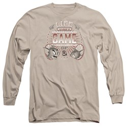 Tom And Jerry - Mens Life Is A Game Long Sleeve T-Shirt