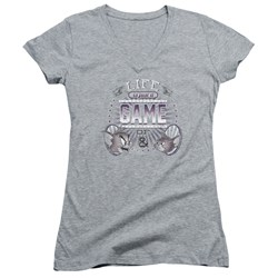 Tom And Jerry - Juniors Life Is A Game V-Neck T-Shirt