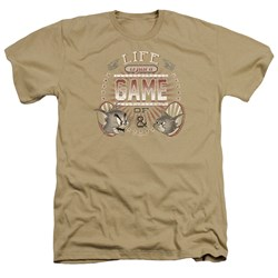 Tom And Jerry - Mens Life Is A Game Heather T-Shirt