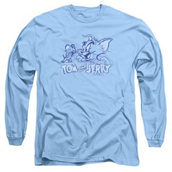 Tom And Jerry - Mens Sketchy Long Sleeve T-Shirt