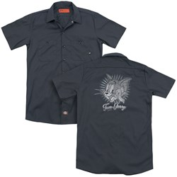 Tom And Jerry - Mens Classic Pals (Back Print) Work Shirt