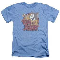 Tom And Jerry - Mens Water Damaged Heather T-Shirt