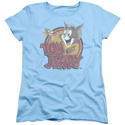 Tom And Jerry - Womens Water Damaged T-Shirt