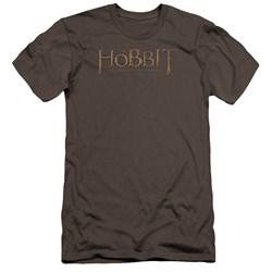 The Hobbit - Mens Distressed Logo Premium Slim Fit T-Shirt