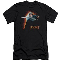 The Hobbit - Mens Secret Fire Premium Slim Fit T-Shirt