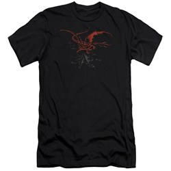 The Hobbit - Mens Smaug Premium Slim Fit T-Shirt