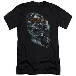 The Hobbit - Mens Cast Of Characters Premium Slim Fit T-Shirt