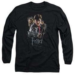 Harry Potter - Mens Deathly Hollows Cast Long Sleeve T-Shirt
