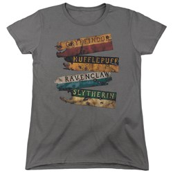 Harry Potter - Womens Burnt Banners T-Shirt