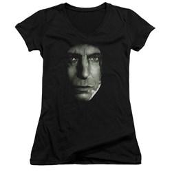 Harry Potter - Juniors Snape Head V-Neck T-Shirt
