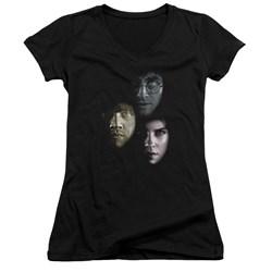 Harry Potter - Juniors Hero Heads V-Neck T-Shirt
