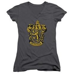 Harry Potter - Juniors Gryffindor Crest V-Neck T-Shirt