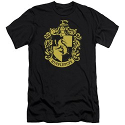 Harry Potter - Mens Hufflepuff Crest Premium Slim Fit T-Shirt