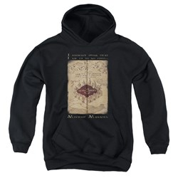 Harry Potter - Youth Marauders Map Words Pullover Hoodie