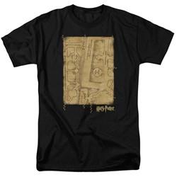 Harry Potter - Mens Marauders Map Interior T-Shirt