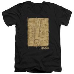 Harry Potter - Mens Marauders Map Interior V-Neck T-Shirt