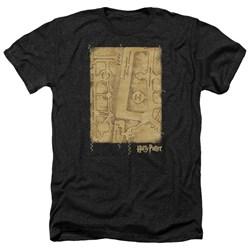 Harry Potter - Mens Marauders Map Interior Heather T-Shirt