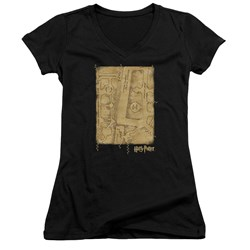 Harry Potter - Juniors Marauders Map Interior V-Neck T-Shirt