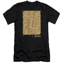 Harry Potter - Mens Marauders Map Interior Premium Slim Fit T-Shirt