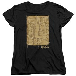 Harry Potter - Womens Marauders Map Interior T-Shirt