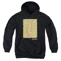 Harry Potter - Youth Marauders Map Interior Pullover Hoodie